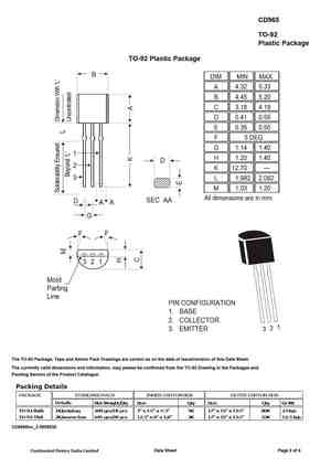 D965 Datasheet Equivalent Cross Reference Search Transistor Catalog