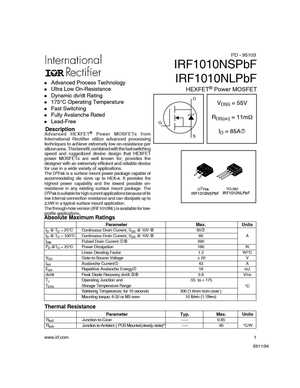 IRF1010NS