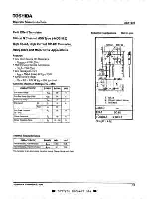 2sk1531 Mosfet Datasheet Pdf Equivalent Cross Reference Search