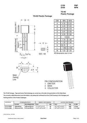 C100 Datasheet, Equivalent, Cross Reference Search  Transistor Catalog