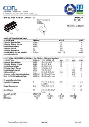 9014 Datasheet, Equivalent, Cross Reference Search