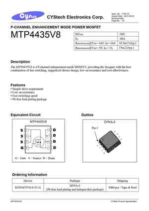 4435 MOSFET Datasheet pdf - Equivalent  Cross Reference Search