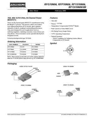 70N06 MOSFET Datasheet pdf - Equivalent  Cross Reference Search