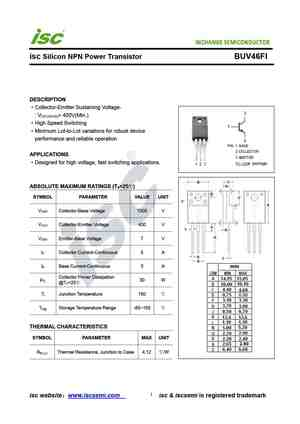 Buv46 datasheet, equivalent, cross reference search. Transistor.