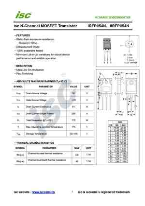 IRFP054 Transistor N-MOSFET 60V 70A 230W TO247AC
