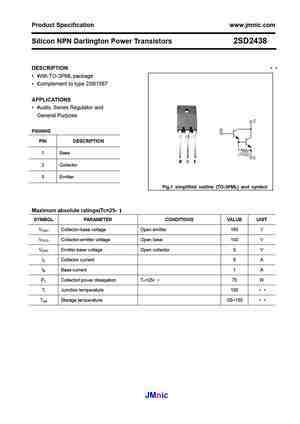 2sd2438 datasheet equivalent cross reference search. Black Bedroom Furniture Sets. Home Design Ideas