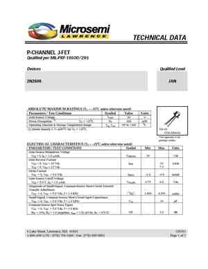 2N2608 MOSFET Datasheet pdf - Equivalent  Cross Reference Search