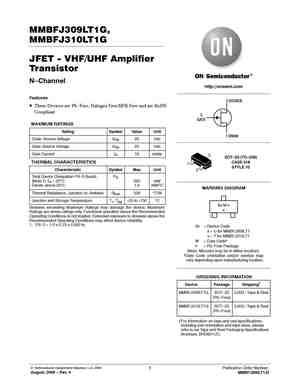 SOT-23 1 piece -25V ON SEMICONDUCTOR MMBFJ310LT1G N CHANNEL JFET