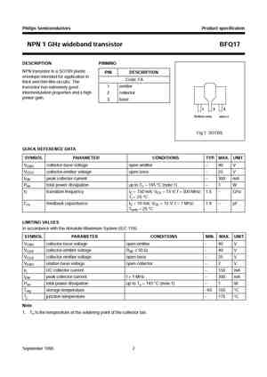 bfq17 datasheet equivalent cross reference search. Black Bedroom Furniture Sets. Home Design Ideas