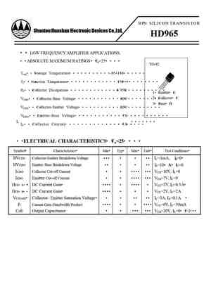 D965 Datasheet Equivalent Cross Reference Search