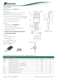 6N90 MOSFET Datasheet pdf - Equivalent  Cross Reference Search