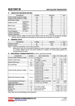 13007 Datasheet, Equivalent, Cross Reference Search