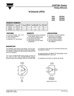 J201 MOSFET Datasheet pdf - Equivalent. Cross Reference Search